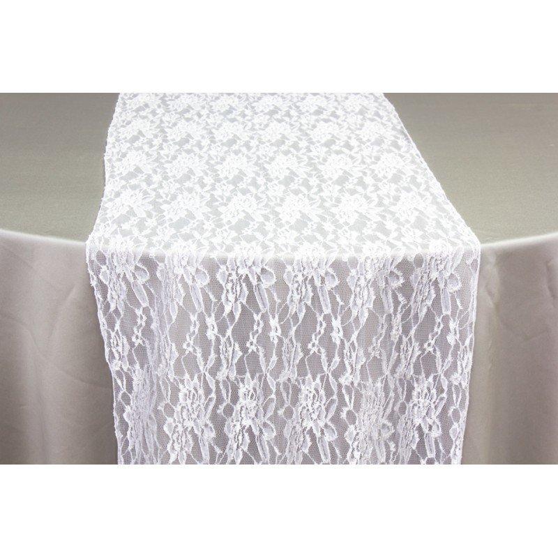 Balti mežģīņu galda celiņi
