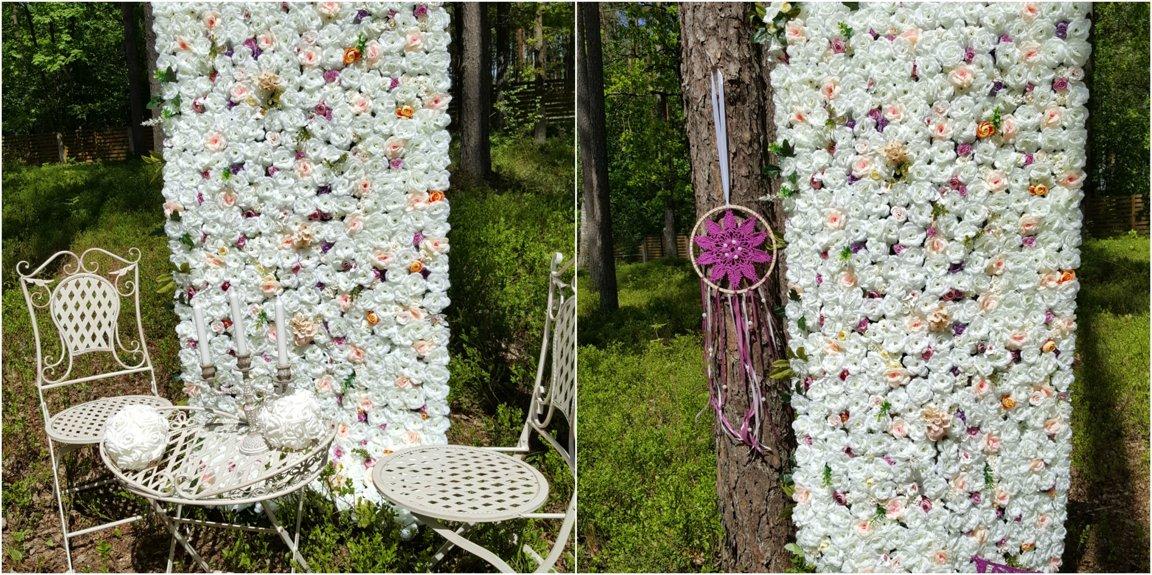 Mazā ziedu siena 180*80