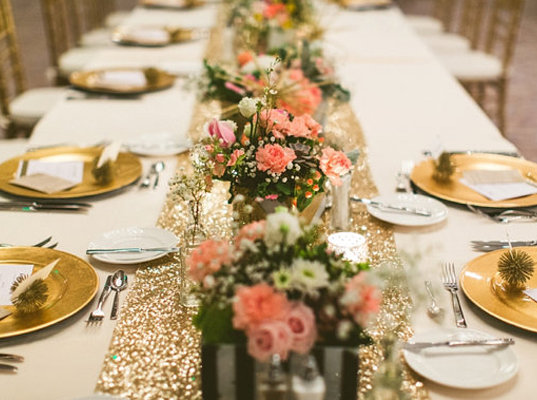 Zeltra glitterēts galda celiņš 30*275