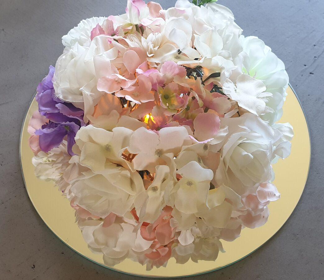 Ziedu dekors ar 30cm spoguli