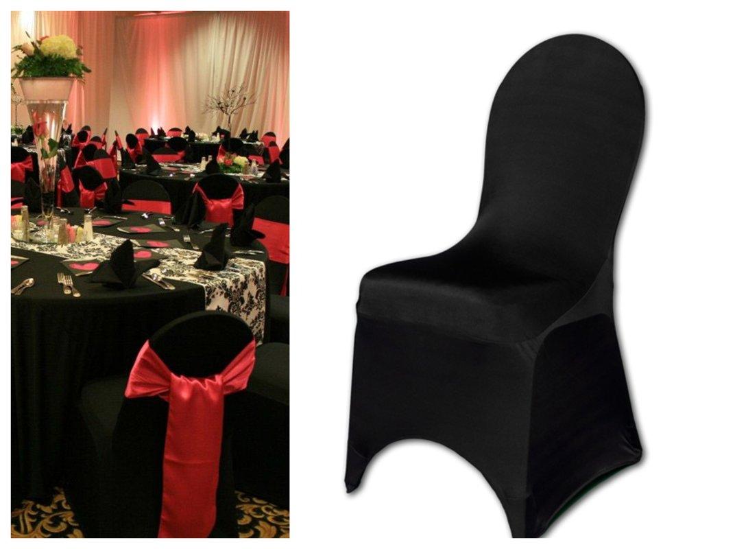 Melni krēslu pārvaki
