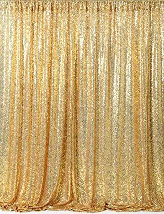 Gliterēta zelta drapērija 240x240