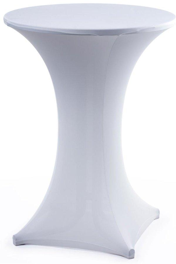 Stāvgalda galdauts, balts elastīgs stāvgalda galdauts