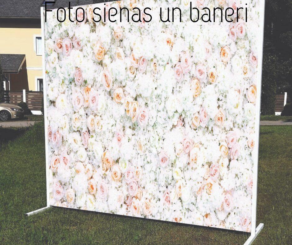 Foto sienas un baneri