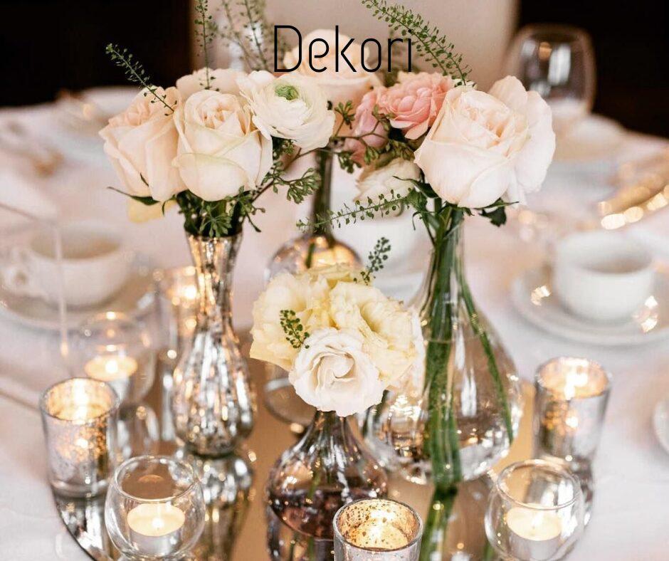 Dekoru noma kāzām un citām svinībām